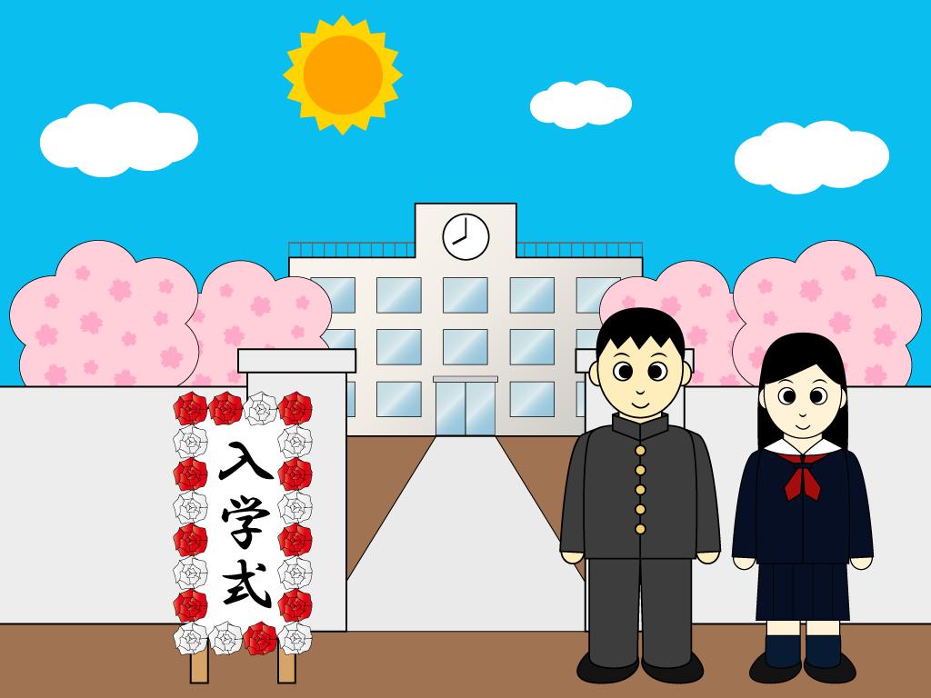 式 イラスト 入学