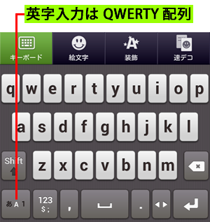 QWERTY 配列に切り替わる