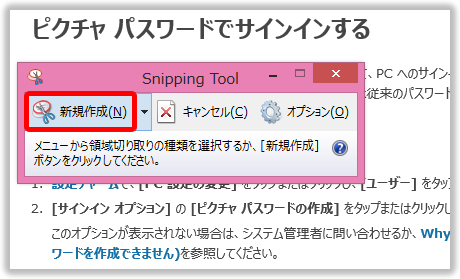 Snipping Tool を起動